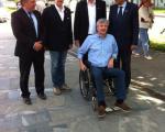 V Cerknici se je kandidatom pridružil tudi predsednik SDS Janez Janša