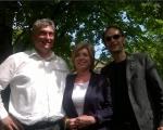 Kandidati za evropske poslance dr. Milan Zver, Romana Tomc in mag. Anže Logar na srečanju Svetniškega kluba SDS v Ljubljani