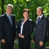 Dr. Milan Zver, dr. Vlasta Krmelj in Janez Janša