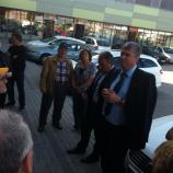 Dr. Milan Zver, mag. Andrej Šircelj, Carmen Merčnik in dr. Vlasta Krmelj s podporniki v Vojniku.